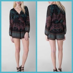 Buckle A3 Designs Printed Lined Chiffon Romper